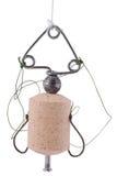 Bobber de pêche, amorce de ?ehnoplankton pour la carpe argentée contagieuse. (Cl Images stock