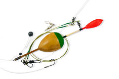 Bobber, Hook, Line And Sinker Stock Photography