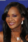 Bobbi Kristina Brown, Nick Gordon arriva al Premiere ?della scintilla? immagine stock
