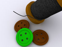 Bobbin and a buttons Royalty Free Stock Photos