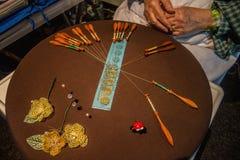 Bobbin Knitting Fotografia Stock