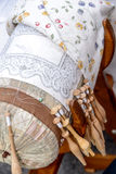 Bobbin Lace with Embroidery Royalty Free Stock Images