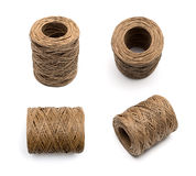 Bobbin of the natural country thread Stock Image