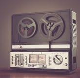 Bobbin tape recorder retro micrphone. HD photo. Stock Photo