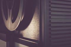 Bobbin tape recorder retro micrphone. HD photo. Royalty Free Stock Photography