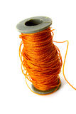 Bobbin with thread. This is bobbin with thread . It is theme of dressmaking Stock Photography