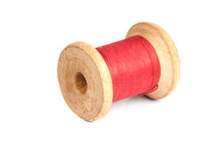 Bobbin on white background. Bobbin red on white background Royalty Free Stock Images