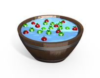 Bobbing for Apples Royalty Free Stock Photo