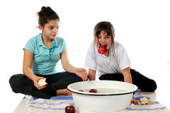 Bobbing for Apples Stock Images