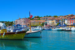 Bobbing Boats. The town of Cassis, on the coast of Southern France Stock Images