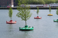 Bobbing forest in rotterdam Royalty Free Stock Photo
