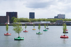 Bobbing forest in rotterdam Stock Photos