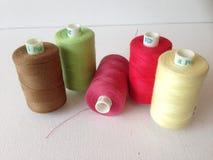 Bobbins of Cotton Thread Stock Photos
