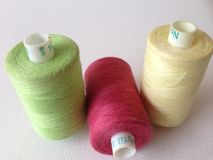 Bobbins of Cotton Thread Royalty Free Stock Images