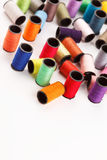 Bobbins of lurex thread Royalty Free Stock Photography