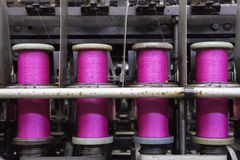 Bobbins with pink rope Stock Image
