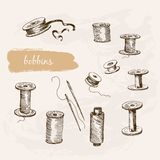 Bobbins Royalty Free Stock Photography