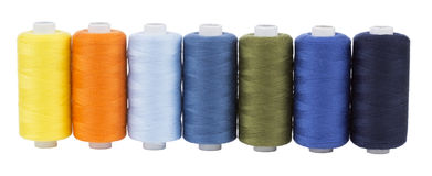 Bobbins of thread Royalty Free Stock Images