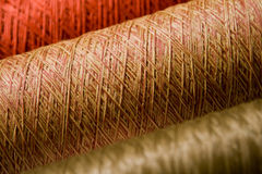 Bobbins of threads Stock Photography