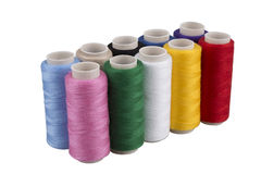 Bobbins with threads Royalty Free Stock Photography