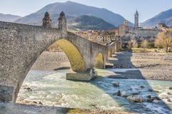 Bobbio - Val Trebbia river - Bridge - Piacenza - Emilia Romagna Stock Photo