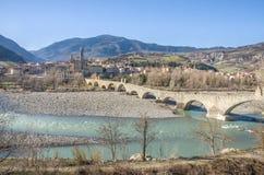 Bobbio - Val Trebbia river - Bridge - Piacenza - Emilia Romagna Royalty Free Stock Images