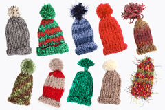 Bobble caps for winter Royalty Free Stock Photos
