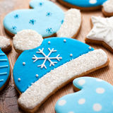 Bobble hat cookies Stock Images