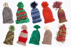 Bobble nakrętki dla zimy zdjęcia royalty free