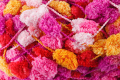 Bobble wool. A closeup of a colorful ball of   bobble wool threads Royalty Free Stock Photos
