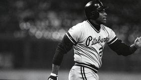 Bobby Bonilla. Pittsburgh Pirates OF Bobby Bonilla. Image taken from b&w negative royalty free stock image