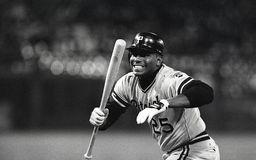 Bobby Bonilla. Pittsburgh Pirates OF Bobby Bonilla. Image taken from b&w negative stock photos