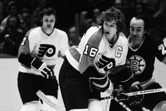 Bobby Clarke, Philadelphia Flyers imágenes de archivo libres de regalías
