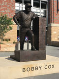 Bobby Cox Statue, Sun Trust Park. Bronze statue of Atlanta Braves manager Bobby Cox is outside of the new Sun Trust Park in Atlanta, GA stock photography