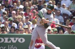 Bobby Kielty. Oakland Athletics OF Bobby Kielty. Image taken from color slide stock image