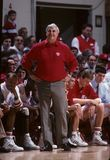 Bobby Knight Coach of the Indiana Basketball Team. Bobby Knight on the sidelines watching his play stock photo
