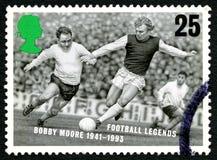 Bobby Moore UK portostämpel Fotografering för Bildbyråer