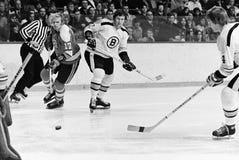 Bobby Orr en Fred Stanfield, Boston Bruins Royalty-vrije Stock Fotografie