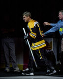 Bobby Orr, pre-game skate. Despite bad knees, Bobby Orr takes a pre-game skate for the Dennis Leary charity hockey game at the Fleet Center. (2003 )  (Image Stock Images