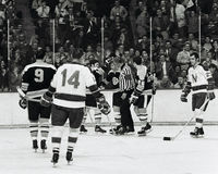 Bobby Orr scores a goal Royalty Free Stock Photo
