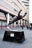 Bobby Orr Statue --  Royalty Free Stock Images