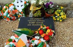 Bobby Sand`s tomb, Belfast, Northern Ireland. Bobby Sand`s tomb in Belfast, Northern Ireland Royalty Free Stock Images