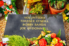 Bobby Sand`s tomb, Belfast, Northern Ireland Royalty Free Stock Images
