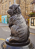 Bobby Statue in Edinburgh. UK, Scotland, Lothian, Edinburgh, Corner of Candlemaker Row and George IV Bridge, Statue of Bobby Stock Images