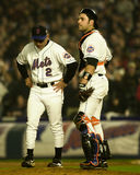 Bobby Valentine and Mike Piazza Royalty Free Stock Photos