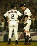 Bobby Valentine y Mike Piazza fotografía de archivo
