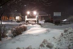 bobcat som tar bort snow Arkivbild
