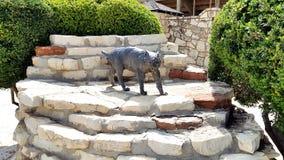Bobcat statue royalty free stock photos