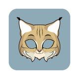Bobcatmasker voor diverse festiviteiten, partijen vector illustratie