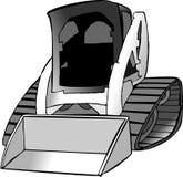 bobcattraktor royaltyfri illustrationer